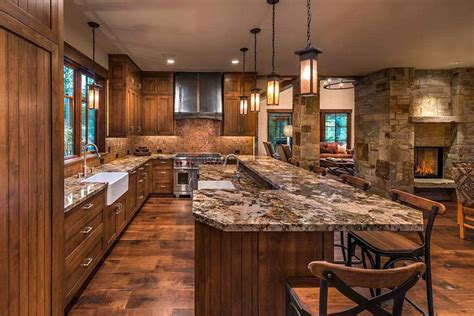 light fixtures for kitchen islands 35 beautiful rustic kitchens design ideas designing idea