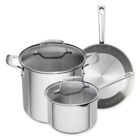 emeril cookware stainless steel copper core piece clad sets beyond bath bed bedbathandbeyond