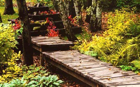 green design ideas  beautiful wooden garden paths