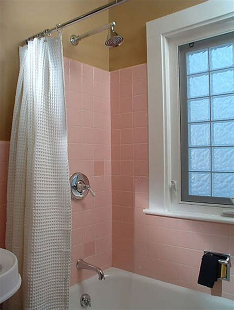 retro pink bathroom tile ideas  pictures