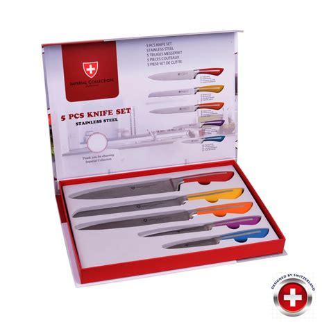 coffret couteau cuisine coffret 5 couteaux couleurs inox imperial collection