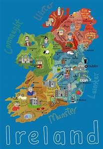 Children's Map of Ireland - Maps com