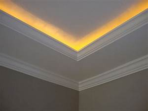 Crown molding with rope lights going to do this next for Crown moulding lighting