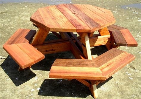 free picnic table plans joins free access octagon picnic table plans free walk