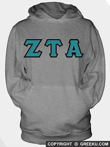 sorority hooded sweatshirt with sewn on letters c r e a With sewn on letters sweatshirts