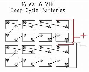 Solar Batter Wiring Diagram For 16 6v Batteries