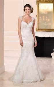 wedding dresses uk cap sleeves backless floor length mermaid lace wedding dress instyledress co uk