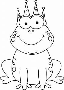 Black and White Frog Prince Clip Art - Black and White ...