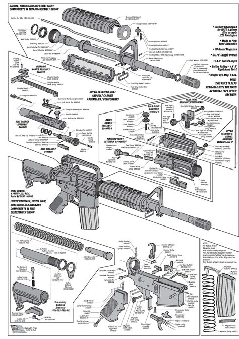Schematic Technical Drawings Cutaways Guns