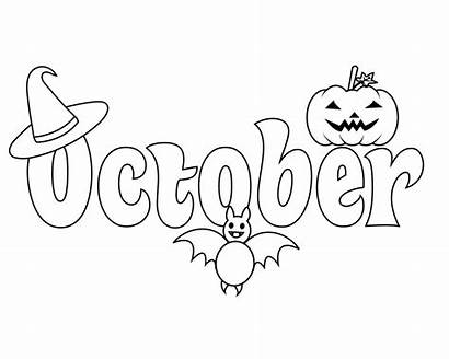 Coloring October Pages Halloween Fall Adults September