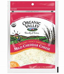 Organic Valley Mild Shredded Cheddar Cheese Review