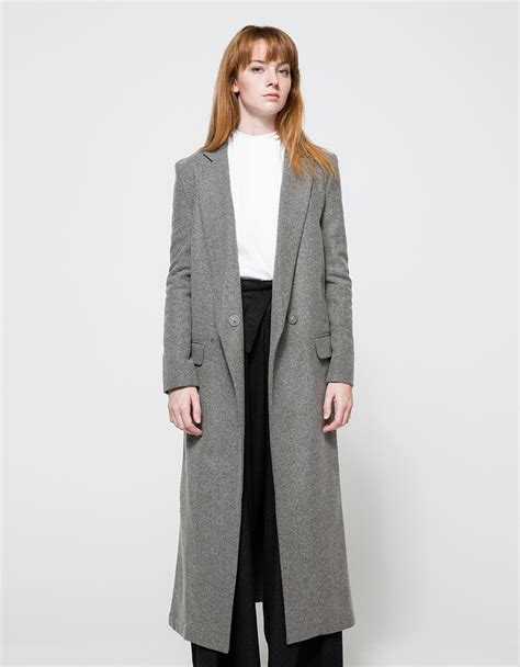 light grey long coat assembly long coat in gray lyst