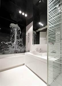 Toilette Ohne Fenster : wohnideen badezimmer ohne fenster schwarz weiss fototapete wasser platsch bad isartal pinterest ~ Sanjose-hotels-ca.com Haus und Dekorationen