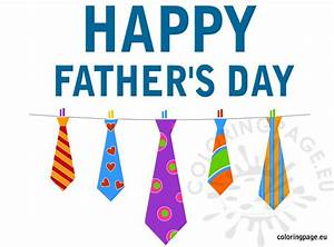 Happy father's day ties card | Coloring Page