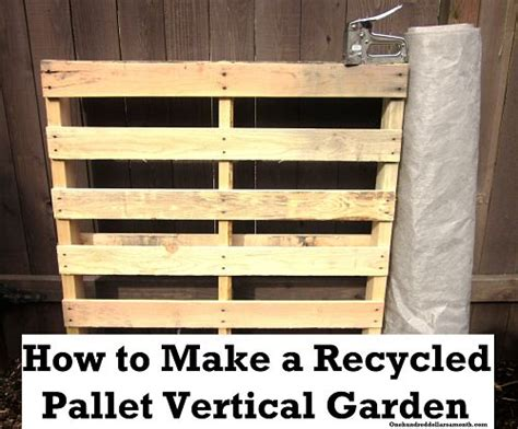 How To Build A Vertical Pallet Garden by How To Make A Recycled Pallet Vertical Garden