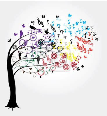 papier peint arbre avec des notes de musique arbre