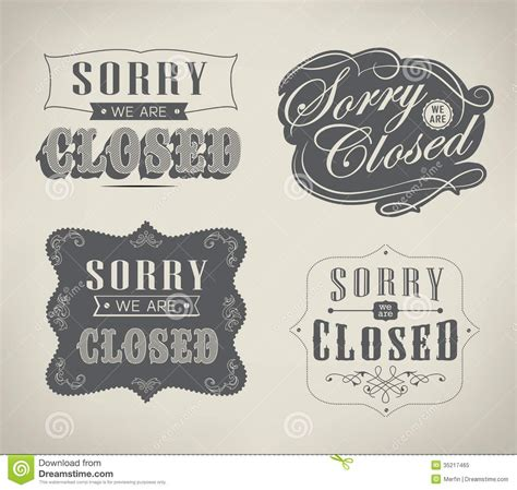 open and closed vintage retro signs royalty free stock photo image 35217465