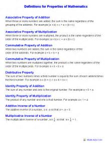 properties of numbers worksheet properties worksheets properties of mathematics worksheets