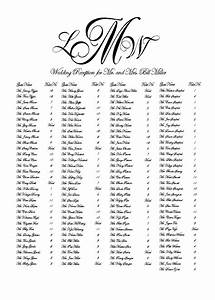 Seating Chart Builder Machine Calligraphy Seating Chart