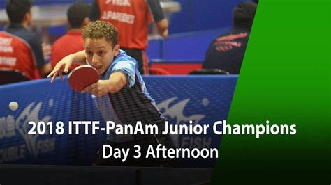 2018 Panam Junior Championships Day 3  Afternoon Session