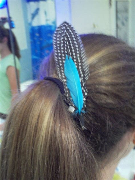 super simple velcro feather clips     feather