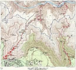 Grand Canyon Hiking Trails Map