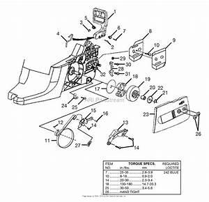 Homelite 45cc 20 U0026quot  Chain Saw Ut-10942-d Parts Diagram For Clutch - Chain Brake
