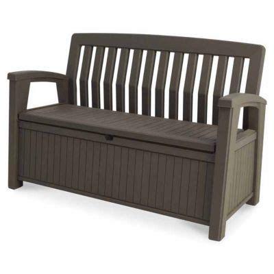 Coffre Banc De Rangement Plastique Patio Bench 227l