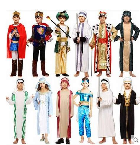 parent child clothes arab suit costume stage performance