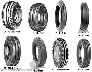 Part Number Front Tires Enlarged View
