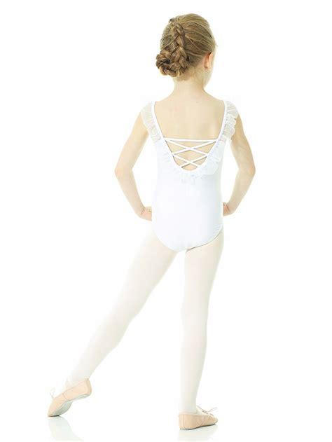 mondor ballerina snow queen white camisole leotard