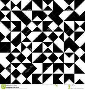 Vector Modern Seamless Geometry Pattern, Black And White ...