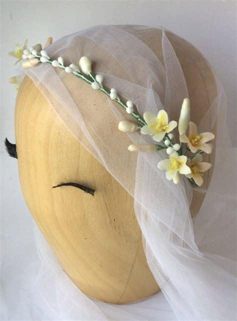 Wedding Hair Vine Wax Flower Crown Bridal Wreath Boho