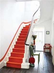 Decoration Escalier Interieur Peinture : le rouge en d coration ~ Dailycaller-alerts.com Idées de Décoration