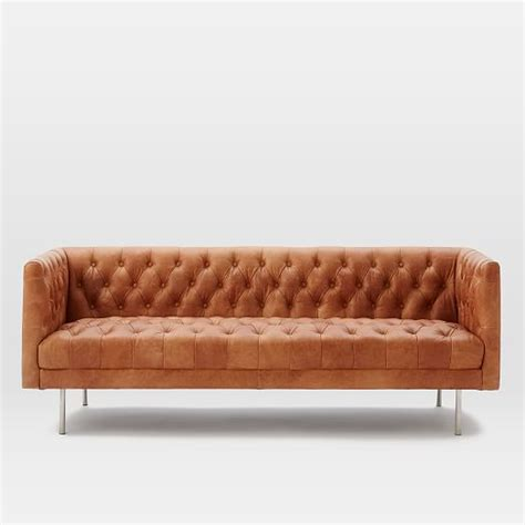 chesterfield leather sofa modern chesterfield leather sofa elm