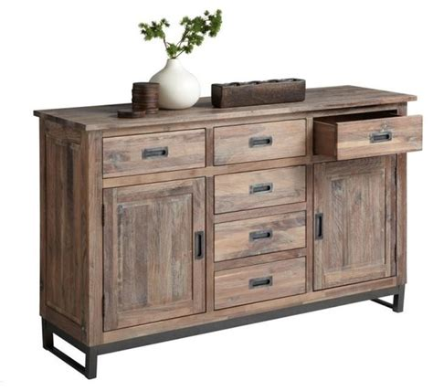 Rustic Sideboards by Distressed Walnut Sideboard Rustic Buffets And