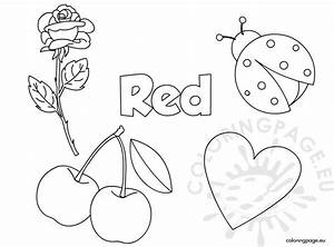 Red Color Activity Sheet | Coloring Page