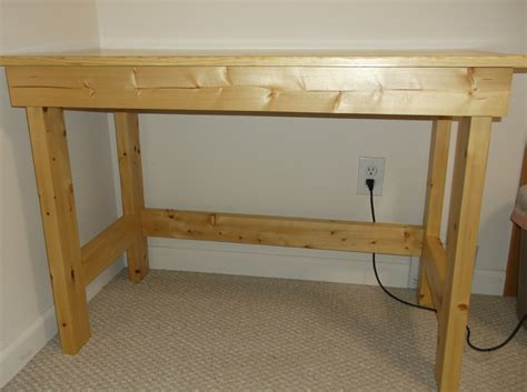 easy to make desk easy to build 2x4 desk with glued up top rustic
