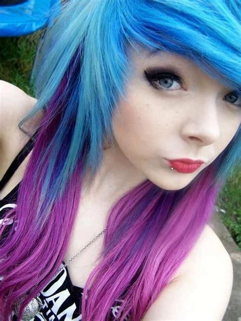 Blue Hair Light Blue Hair And Purple On Pinterest