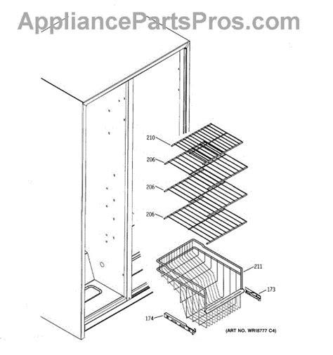 parts  ge gsssgmdbs freezer shelves parts