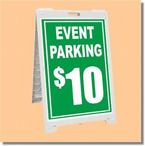 Econo Classic Sign Event Parking with Custom Price