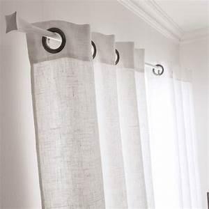 Rideau De Baignoire Leroy Merlin : rideau tamisant solenzara blanc x cm ~ Dailycaller-alerts.com Idées de Décoration