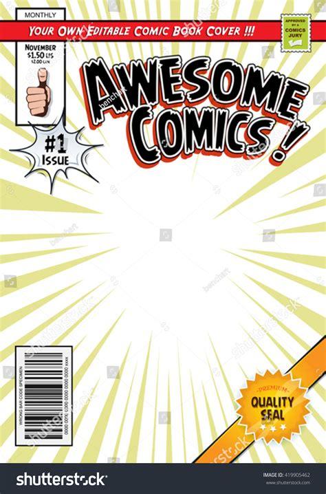 comic book cover template comic book cover template illustration editable stock vector 419905462