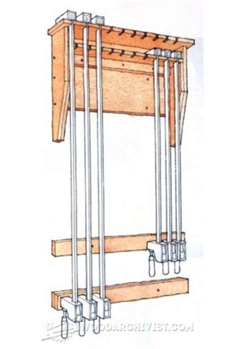 small clamp storage rack woodarchivist