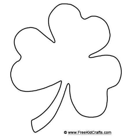 Shamrock Template Free by Shamrock Template Clever Hippo