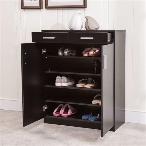 Cabinet Shelf - 5 shelf shoe rack 2 drawers entryway stand organizer