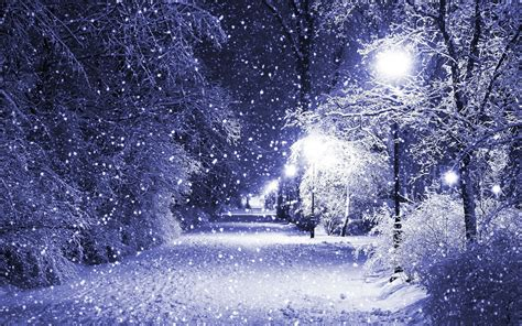 Winter Snow Lamp Post Wallpaper