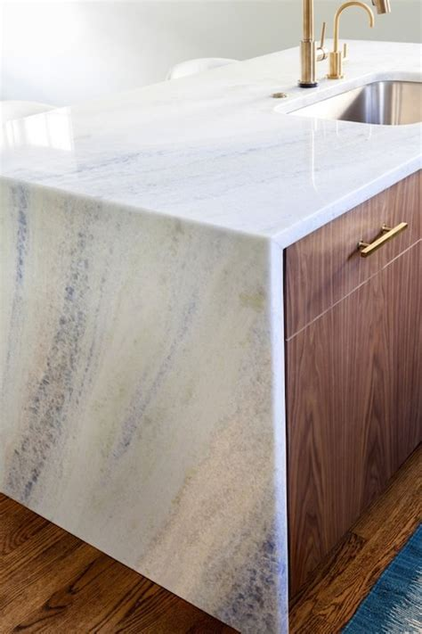 Waterfall Countertops Design Ideas