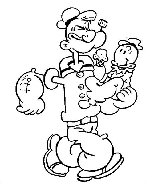 17 best Popeye coloring pages images on Pinterest | Adult