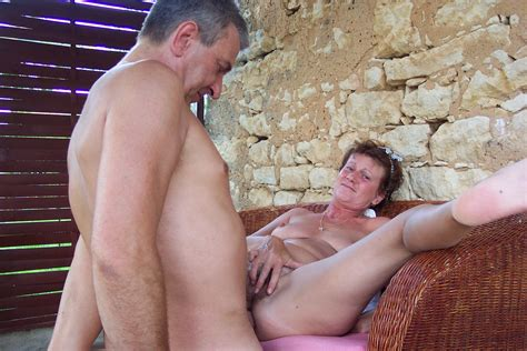 Mature Couple Horny Outdoor 01  Porn Pic From Mature